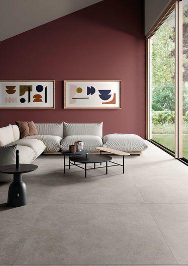 grijze betonlook vloertegels